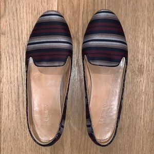 Size 8 Stripped Flats from JCrew